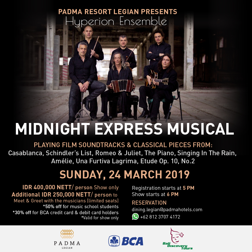 Hyperion Ensemble, Padma Resort Legian, Classical Music, Bali Event 2019