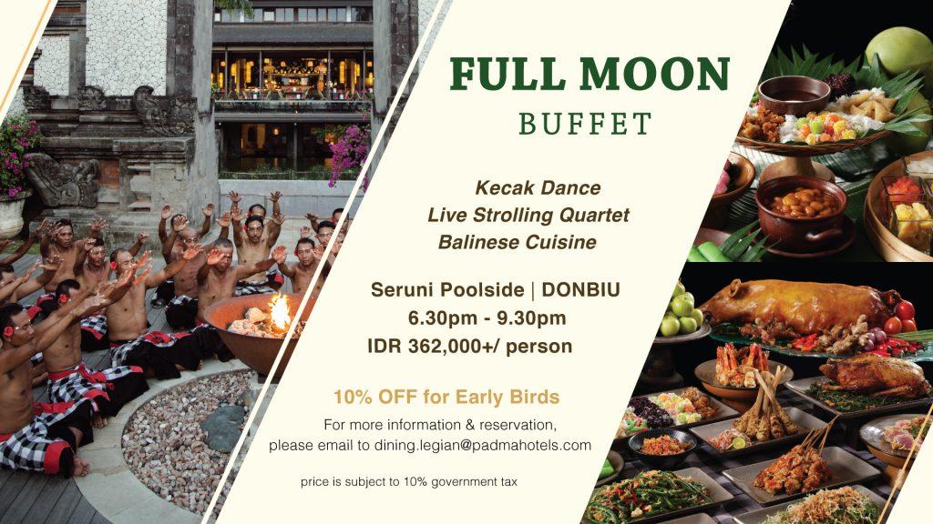 Full Moon Buffet at Padma Resort Legian