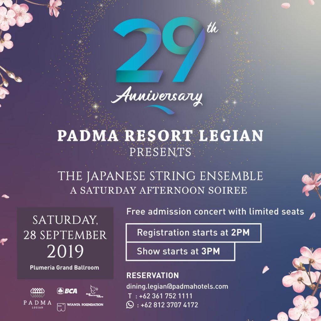 Padma Resort Legian - 29 Anniversary Classical Music Concert