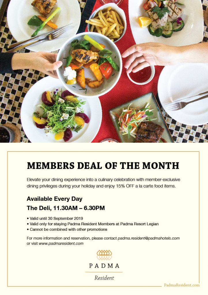 Padma Member Deals at Padma Resort Legian