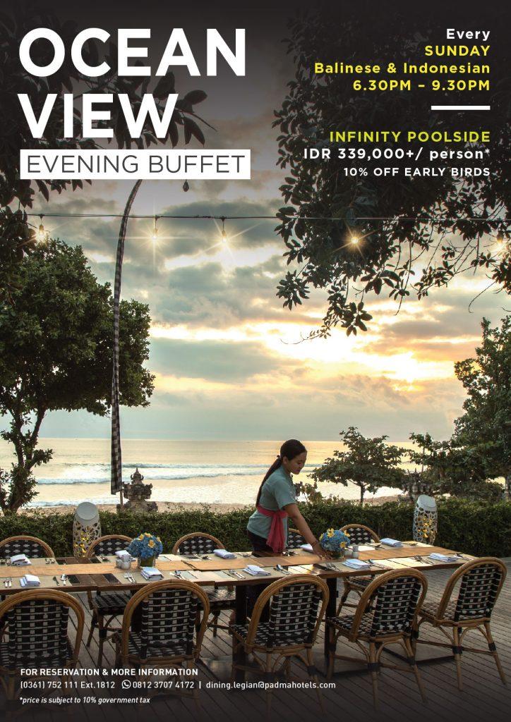 Ocean View Buffet Dinner at Padma Resort Legian
