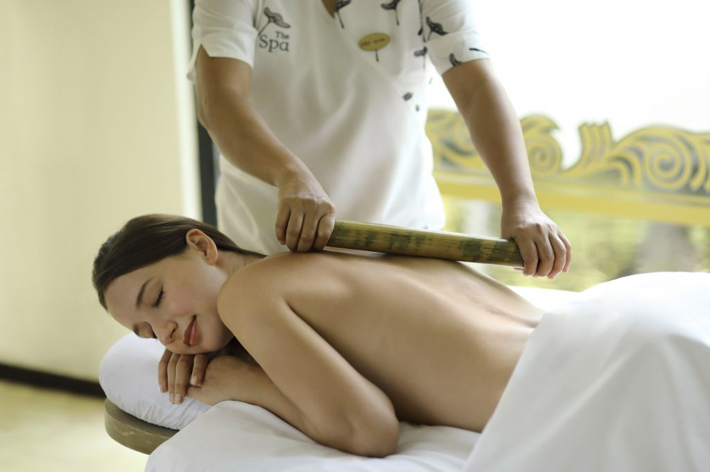 Warm Bamboo Massage at Padma Resort Legian