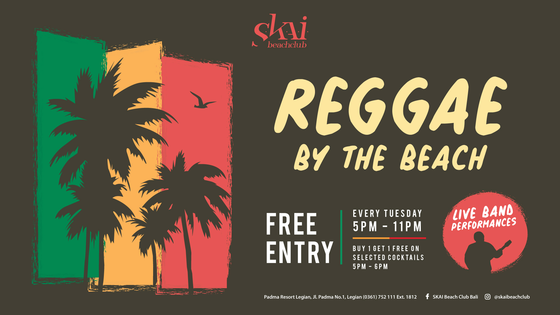 Reggae by The Beach at Padma Resort Legian