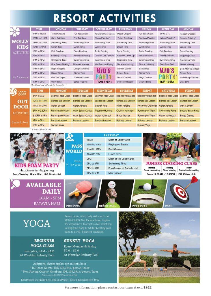 Padma Resort Legian - Resort Activities
