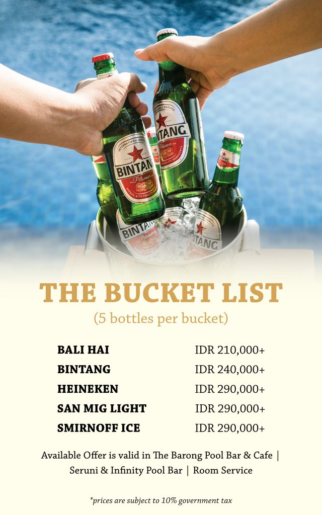Padma Resort Legian - Beer Bucket Deal