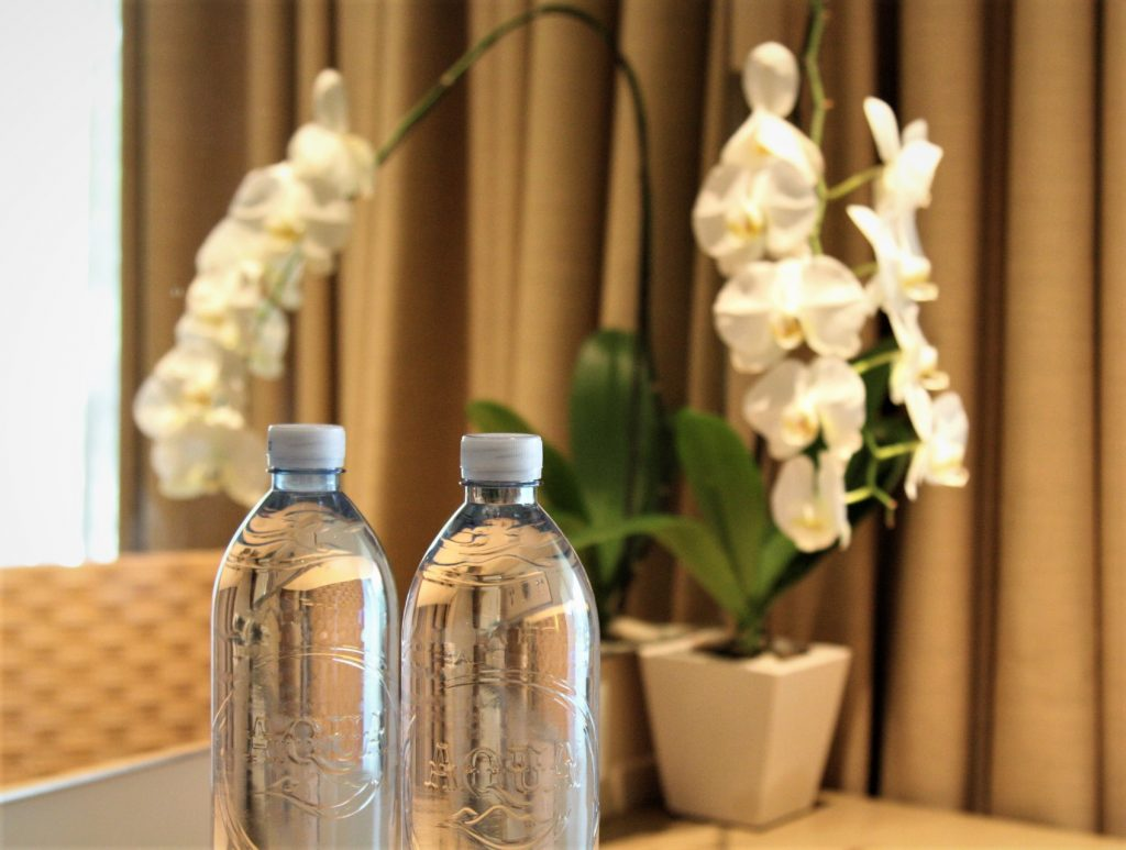 Mineral Water with Recycled Plastic Bottle