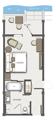 Lagoon Access Room Floor Plan