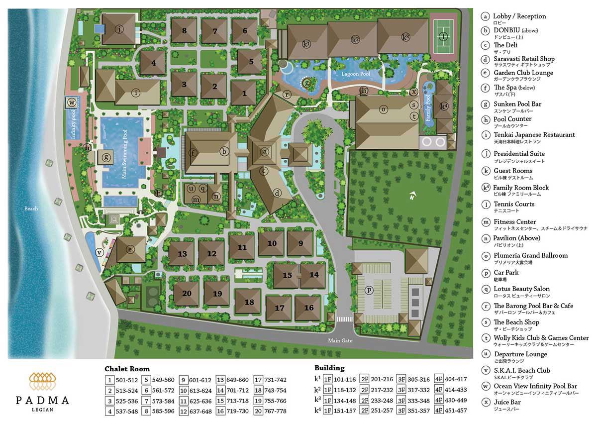 Padma Resort Legian Voucher Bali Four Seasons Resorts At Sayan Facilities Map