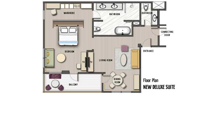 Two Bedroom Balcony Suite Padma