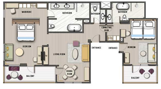New Deluxe Suite Floor Plan