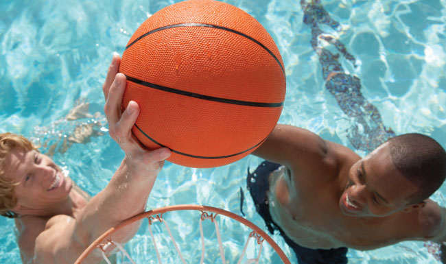 Basket Ball at Swimming Pool