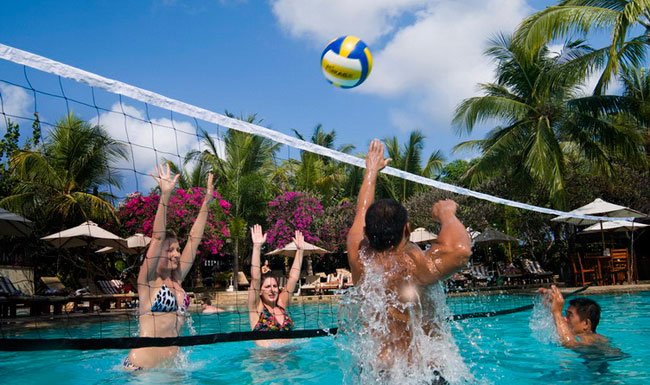 Volly Ball at Swimming Pool